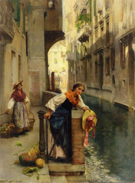 Fruit Sellers from the Islands, Venice - David Roberts