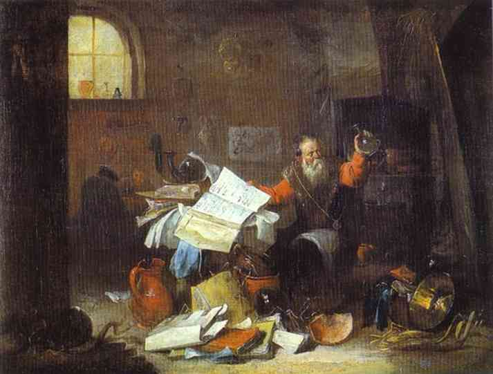 The Alchemist - David Teniers the Younger