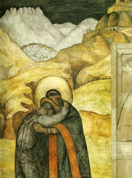 The Embrace, 1923 - Diego Rivera
