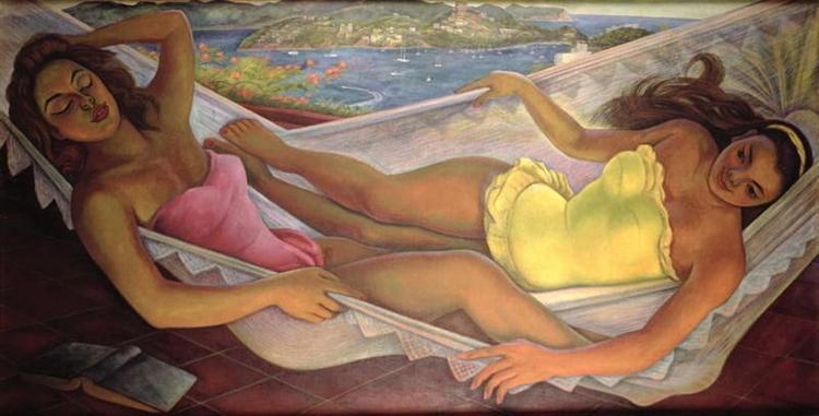 The Hammock, 1956 - Diego Rivera