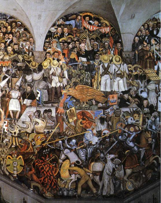 The History of Mexico, 1929 - 1935 - Diego Rivera - WikiArt.org