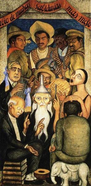 The Learned, 1928 - Диего Ривера