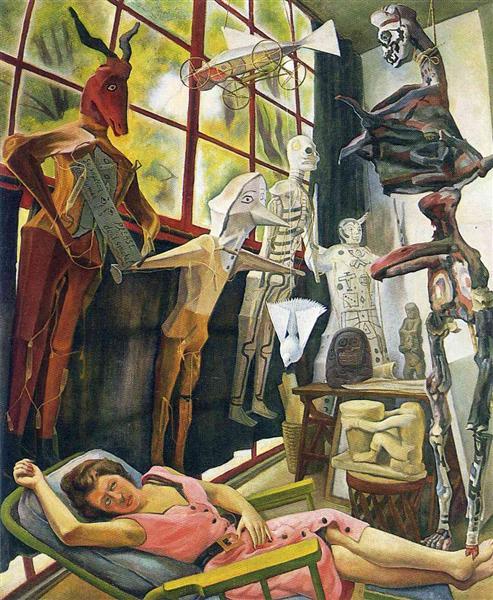 The Painter's Studio, 1954 - Diego Rivera