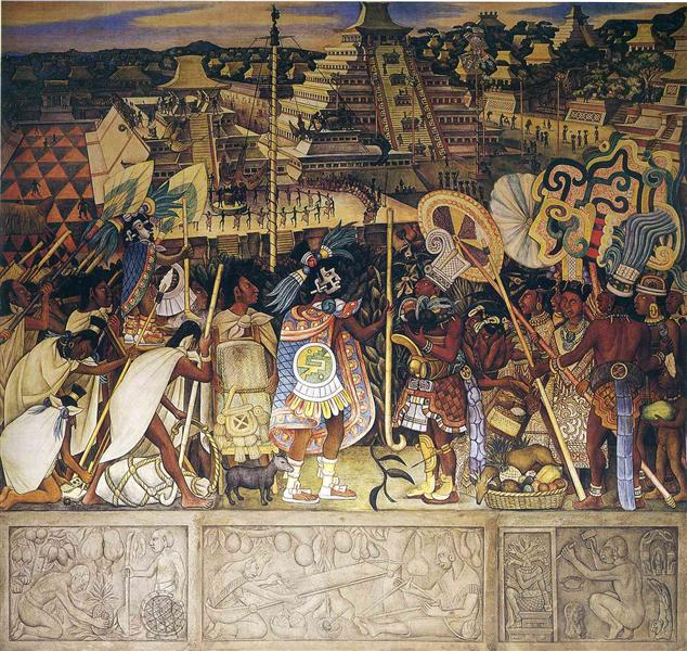 Totonac Civilization, 1950 - Diego Rivera