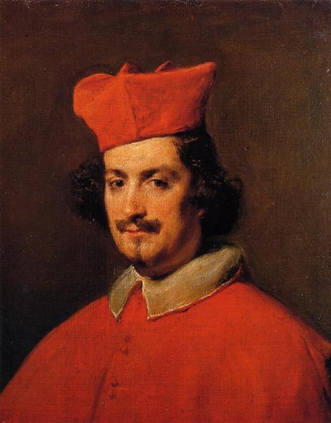 Portrait of Cardinal Camillo Astali Pamphili, 1650 - Diego Velazquez