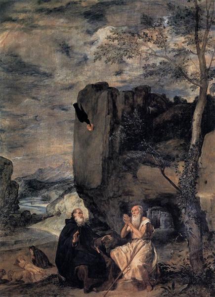 Saint Antoine Abbé et saint Paul, premier ermite, c.1635 - Diego Vélasquez