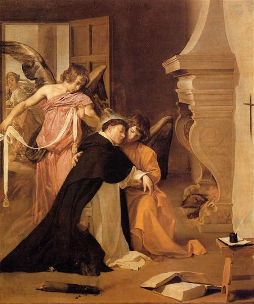 Temptation of St.Thomas Aquinas, c.1631 - c.1632 - Diego Velazquez