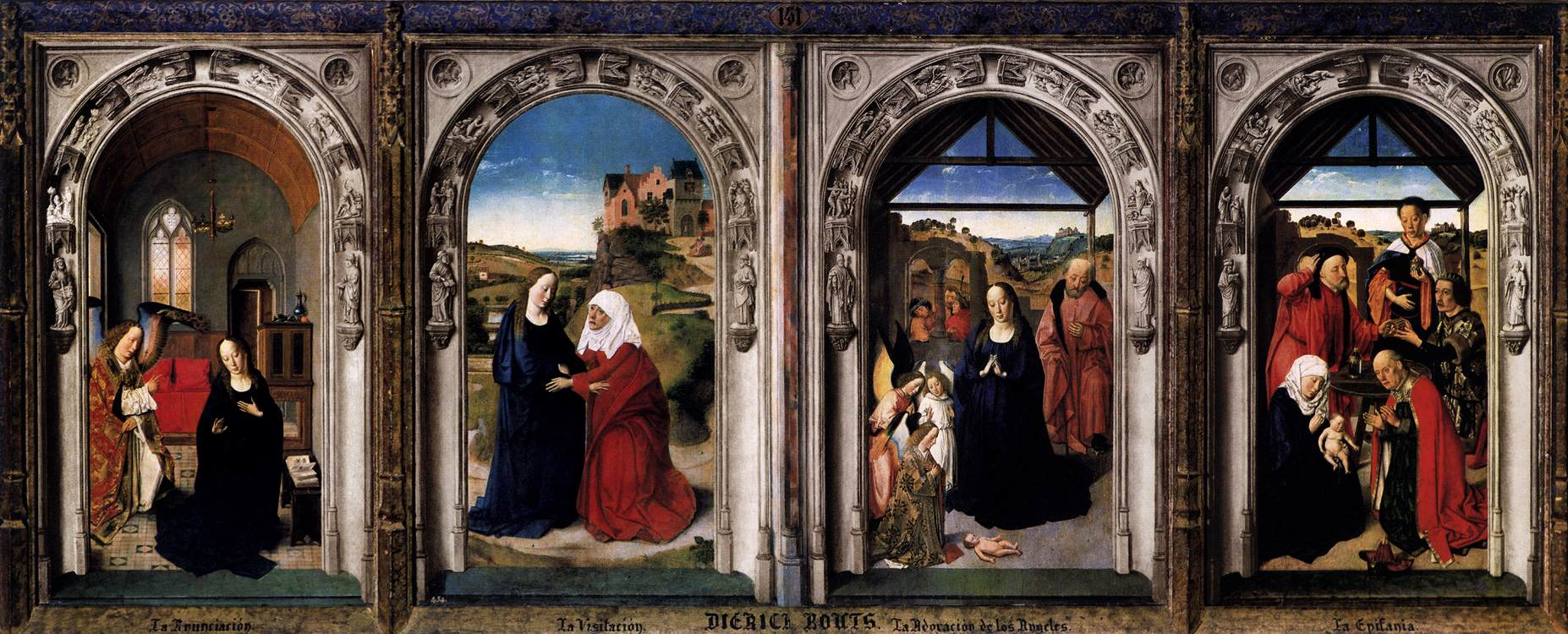 Polyptych of the Virgin: The Annunciation, The Visitation, The Adoration Of The Angels and The Adoration Of The Kings, 1445