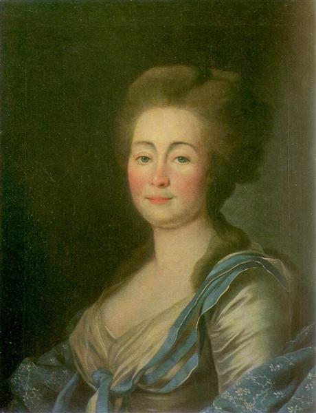 Anna Dorothea Louise Schmidt, née. Baroness Klossen, c.1785 - Dmitry Levitzky
