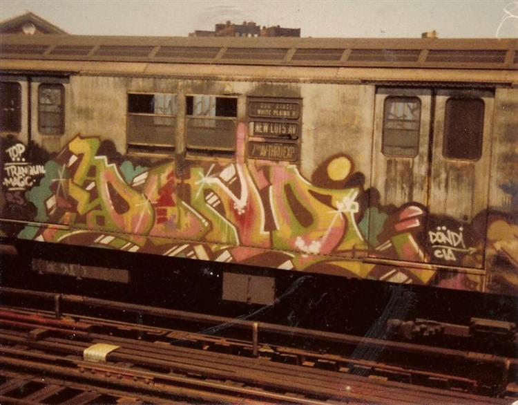 Piece on a R22 Subway Train, New York - Dondi