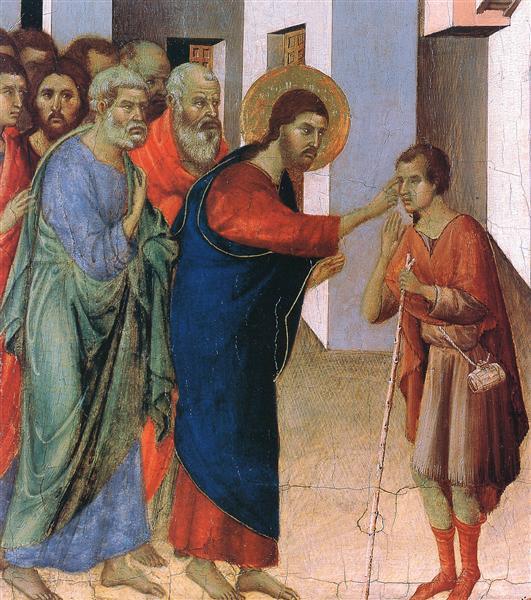 Healing the man born blind (Fragment), 1308 - 1311 - Duccio