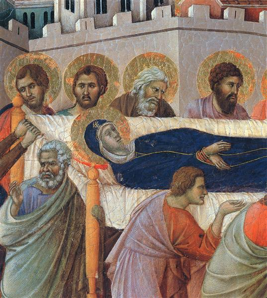 the death of mary fragment 1308 1311 duccio wikiart org