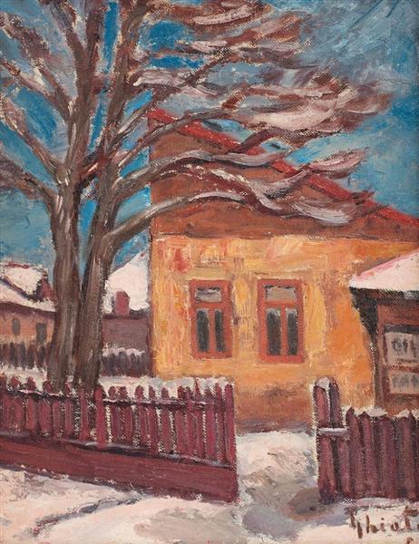 Village Inn During Winter - Dumitru Ghiatza