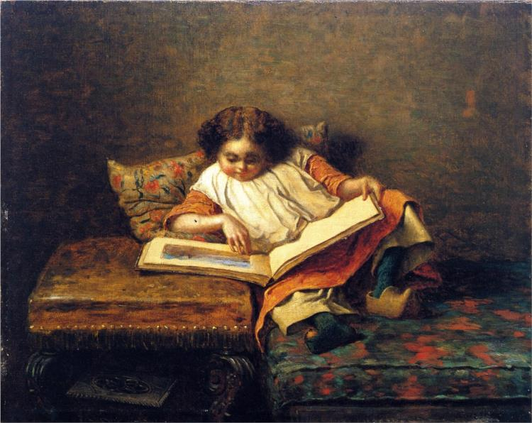 The Art Lover - Eastman Johnson