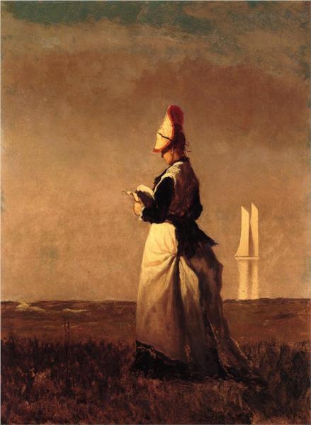 Woman Reading - Eastman Johnson