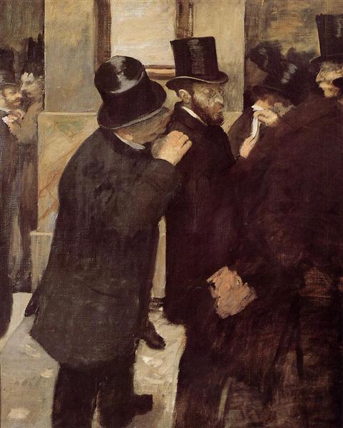 Portraits at the Stock Exchange, 1878 - 1879 - Edgar Degas