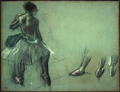 Dancer Seen from Behind and 3 Studies of Feet - Edgar Degas