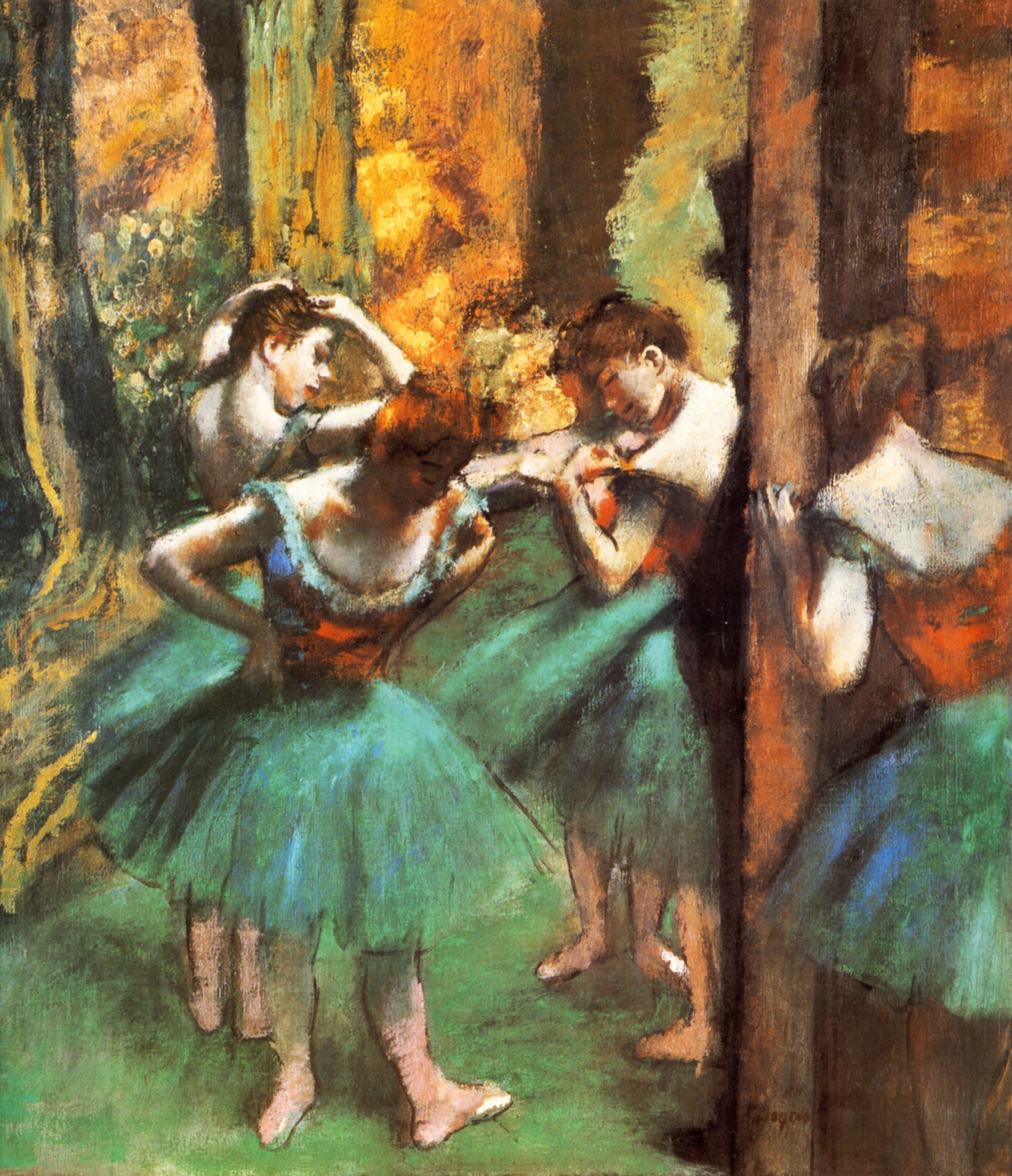 Dancers, Pink and Green, 1890 - Edgar Degas - WikiArt.org