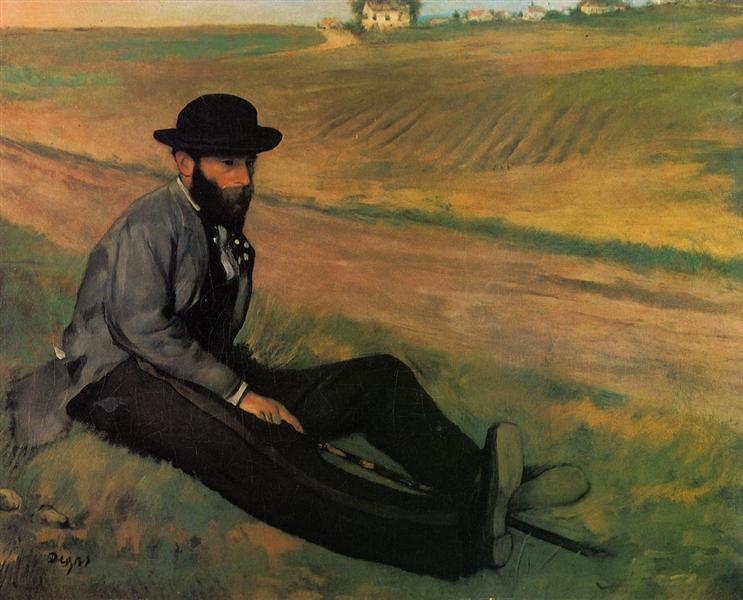 Eugene Manet, 1874 - Edgar Degas