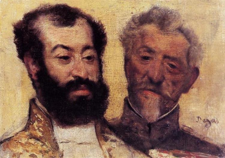 General Mellinet and Chief Rabbi Astruc, 1871 - Edgar Degas