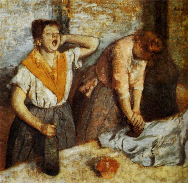 Laundry Girls Ironing - Degas Edgar