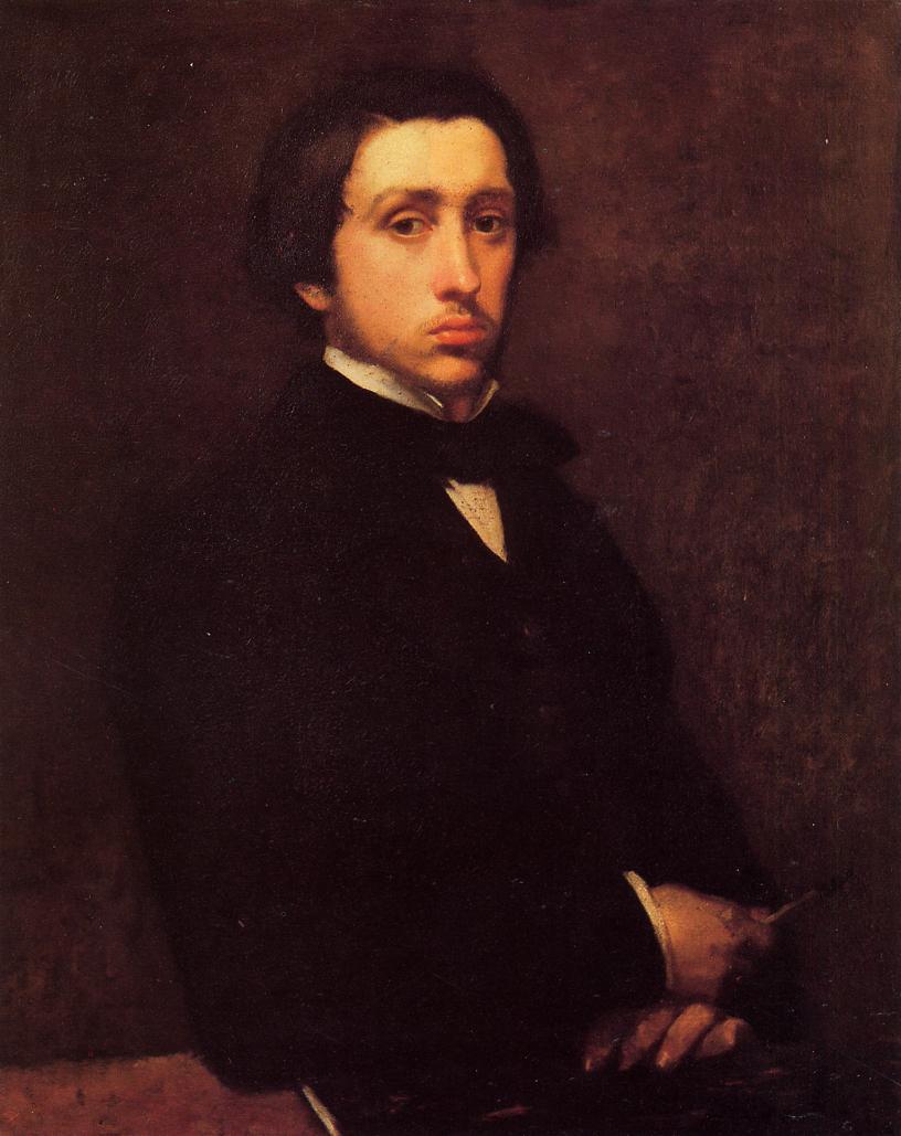 Self Portrait - Edgar Degas - WikiArt.org - encyclopedia ...