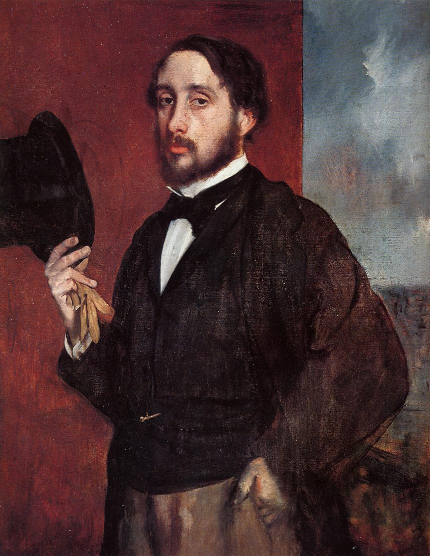 Self Portrait Saluting - Edgar Degas - WikiArt.org ...