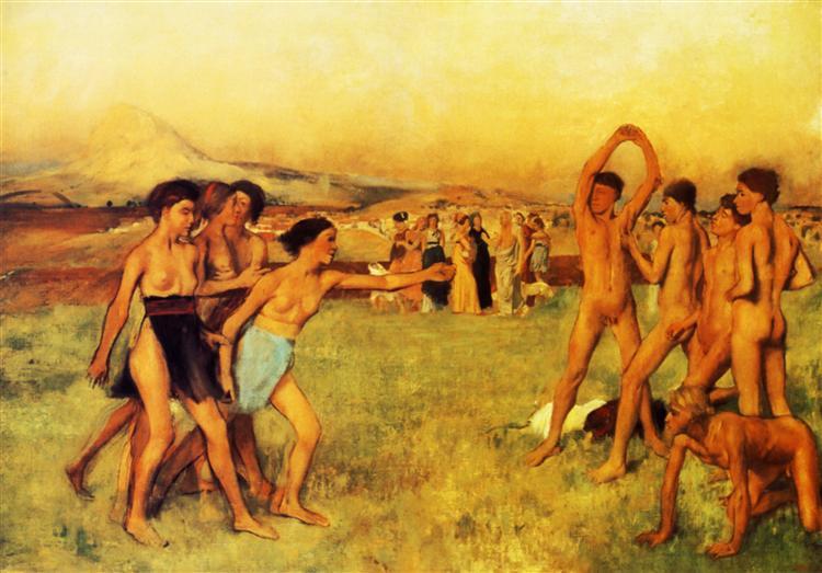 Spartan Girls Challenging Boys, 1860 - Edgar Degas