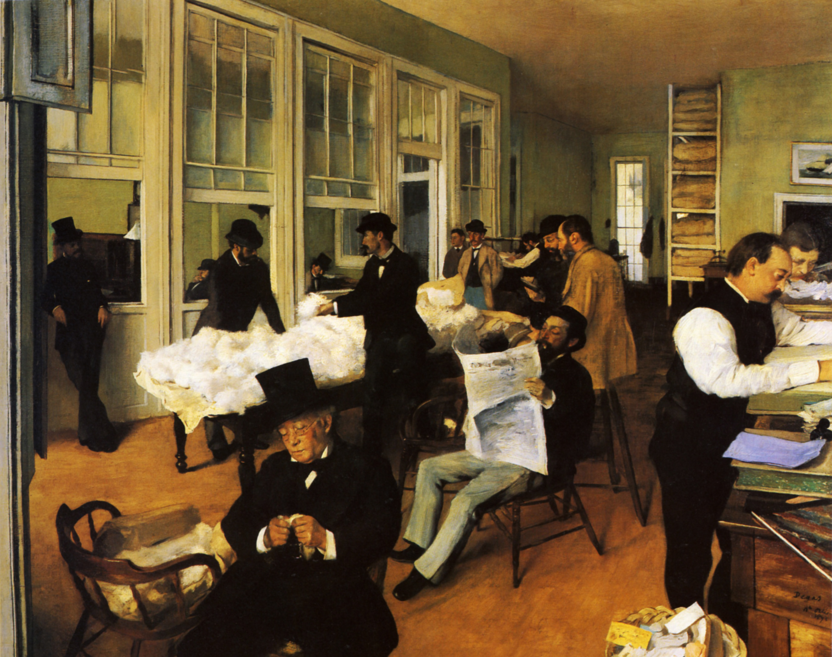 a cotton office in new orleans 1873 edgar degas. Black Bedroom Furniture Sets. Home Design Ideas