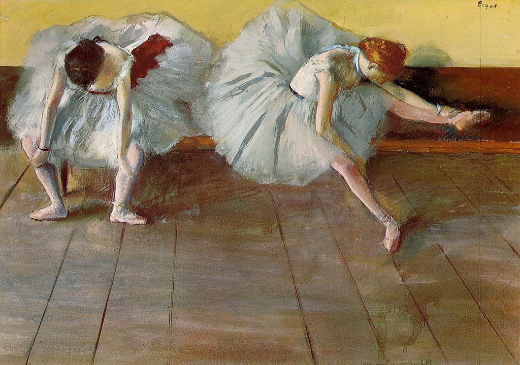 two ballet dancers edgar degas. Black Bedroom Furniture Sets. Home Design Ideas