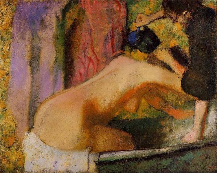 Woman at Her Bath, c.1893 - c.1898 - Edgar Degas