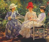 In a Garden - Edmund Charles Tarbell