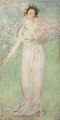 The Symbol of Spring - Edmund Charles Tarbell