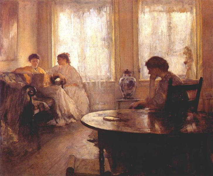 Three Girls Reading, 1907 - Edmund Charles Tarbell