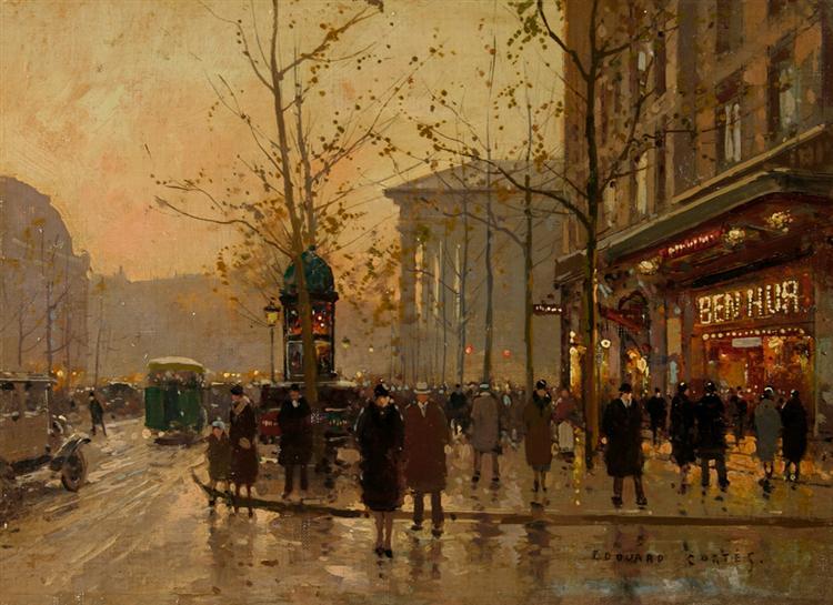 Boulevard des Сapucines - Edouard Cortes
