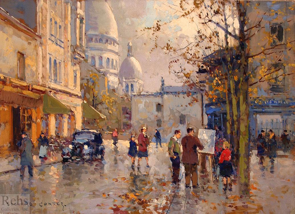 Populaire Place du Tertre - Edouard Cortes - WikiArt.org LQ09