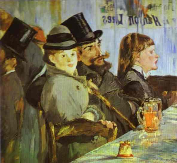 A Bar At The Folies Bergere At the Café, 1878...