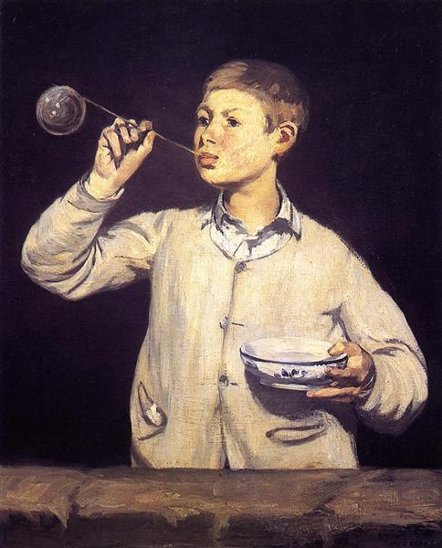 Boy Blowing Bubbles, 1869 - Edouard Manet