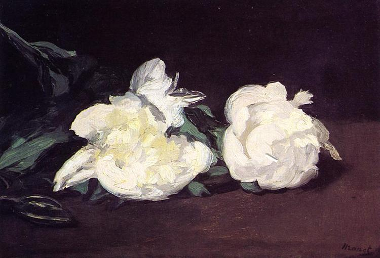 Branch of White Peonies and Secateurs, 1864 - Edouard Manet