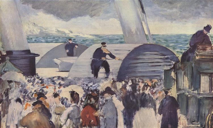 Embarkation after Folkestone, 1869 - Edouard Manet