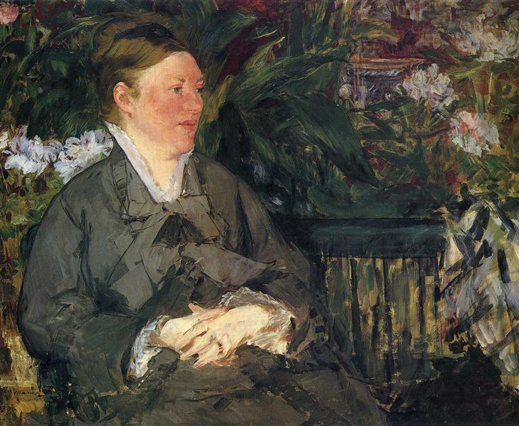 Madame Manet in conservatory, 1879 - Edouard Manet