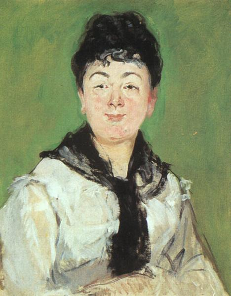 Portrait of a lady with a black fichu, 1878 - Edouard Manet