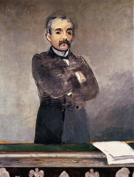 Portrait of Clemenceau at the tribune, 1880 - Edouard Manet