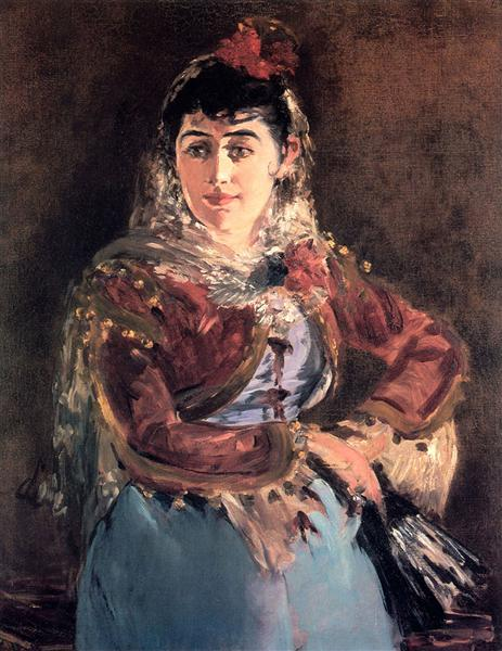 Portrait of Emilie Ambre in role of Carmen - Edouard Manet