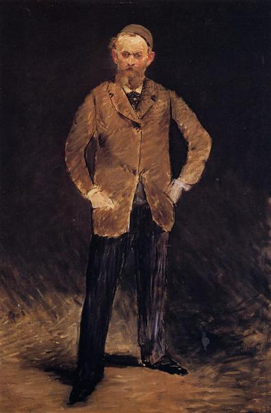 Self-portrait with skull-cap, 1878 - Edouard Manet