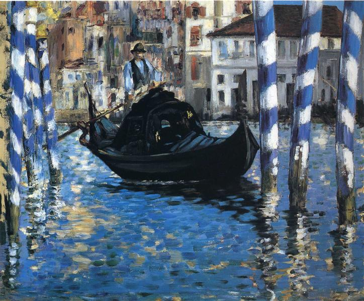 The grand canal of Venice (Blue Venice), 1875 - Edouard Manet