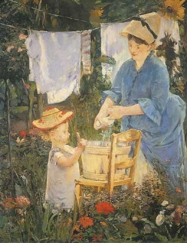 The laundry, 1875 - Edouard Manet