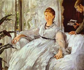 The reading - Edouard Manet