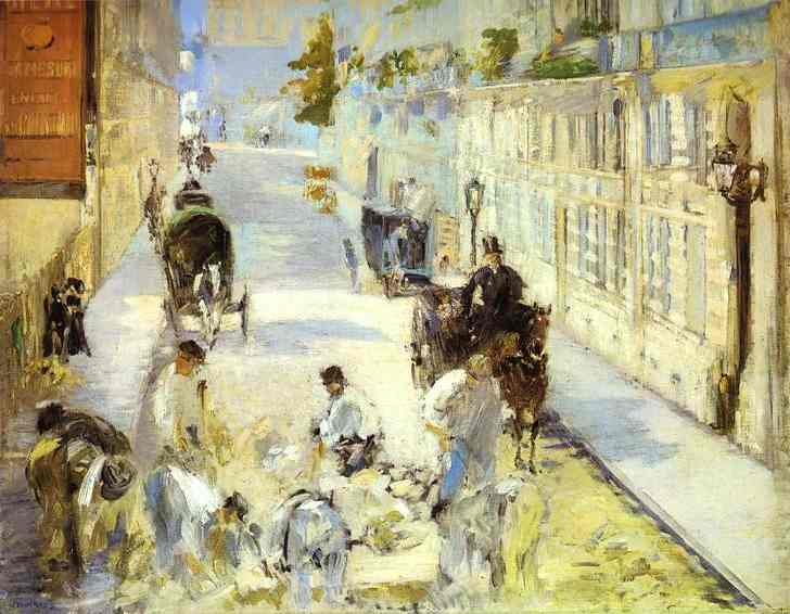 The road-menders, Rue de Berne, 1878 - Edouard Manet