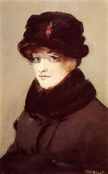 Woman in furs (Ritratto di Mery Laurent) - Edouard Manet